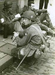 Joseph D. Liebgott in Eindhoven, Noord-Brabant, Holland. September 1944. Operation Market Garden